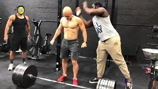 The most epic moment with Deny Montana in the gym. Workout Motivation