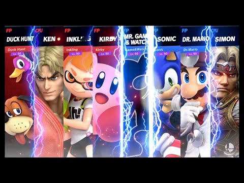 Super Smash Bros Ultimate Amiibo Fights Request #1074 Team Smash at Port Town