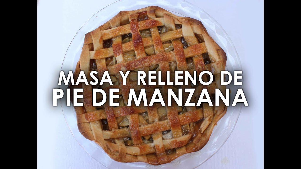 Receta de PIE DE MANZANA fácil y rico (MASA y RELLENO) - YouTube