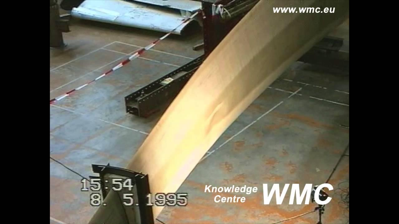 Wind Turbine Blade Length >> Wind turbine rotor blades tested to failure - YouTube