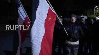 Germany: Clashes At Thugida Torch-lit March To Mark Fall Of Berlin Wall And Kristallnacht