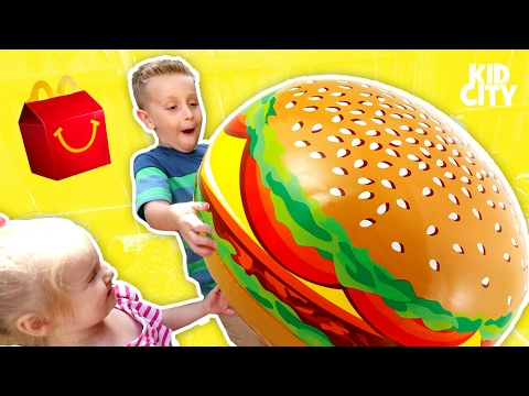 Thumbnail: McDonald's Drive Thru Prank with Power Wheels Ride On Car & Fidget Spinner Happy Meal