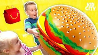 McDonald's Drive Thru Prank with Power Wheels Ride On Car & Fidget Spinner Happy Meal