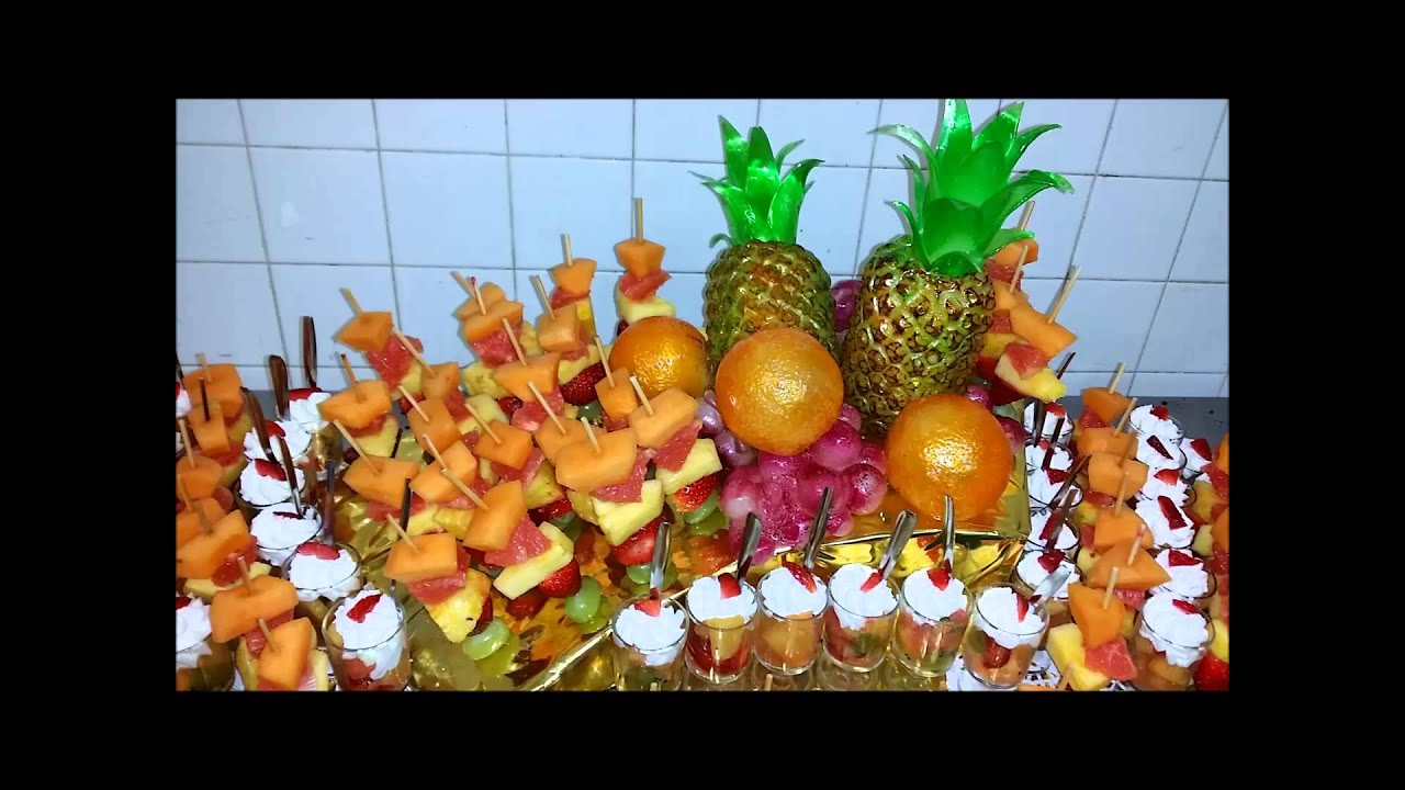 Janiaud traiteur brochettes de fruits youtube - Presentation de brochette de fruits ...
