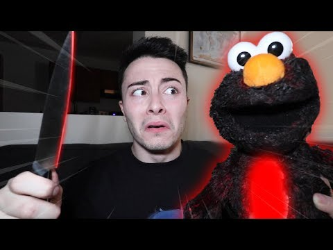 CUTTING OPEN EVIL ELMO DOLL AT 3 AM!! (WHAT'S INSIDE EVIL ELMO DOLL)