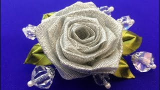 Hello friends! Today we make rose from whole ribbon. We use lurex a...