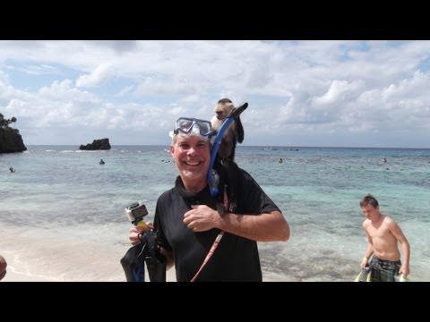 The Snorkeler at West Bay Beach, Roatan Part 1