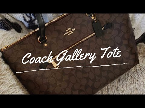 BAG REVIEW: Roomy, Classy And Practical Bag! Coach Gallery Tote In Black Signature