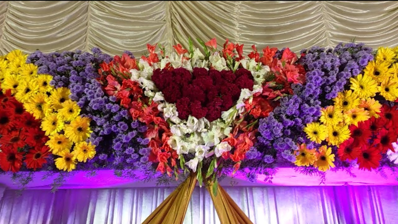 Flowers Stages Decoration Video Youtube