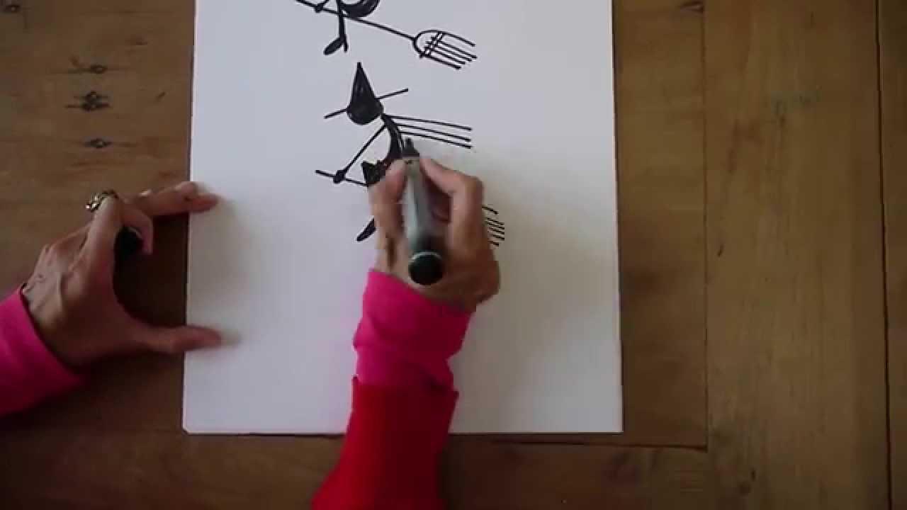 wie zeichne ich einen geist und eine hexe f r halloween tutorial youtube. Black Bedroom Furniture Sets. Home Design Ideas