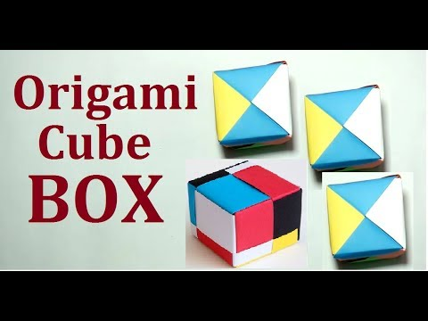 Origami Cube Boxhow To Make An Origami Cube Box Step By Step