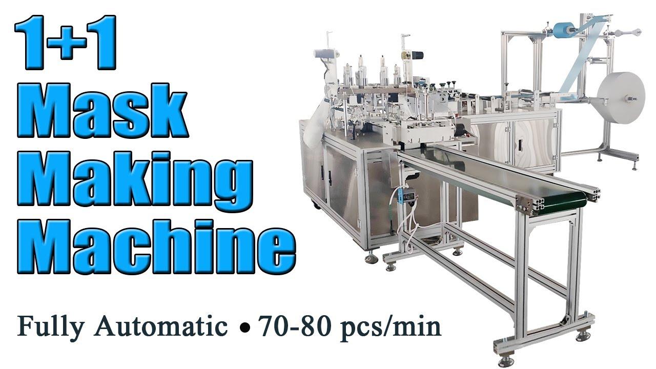 Automatic 1+1 Mask Making Machine (70-80pcs/min)