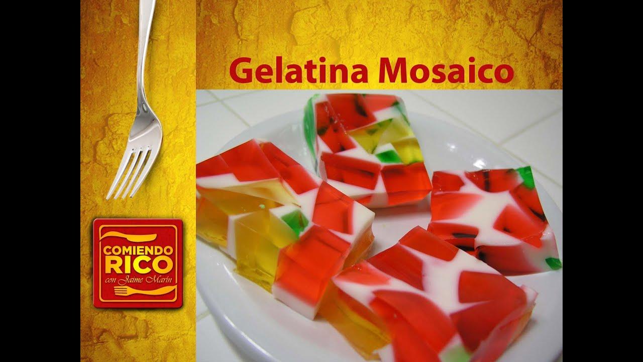 Gelatina de colores tipo mosaico comiendo rico youtube - Mosaico de colores ...