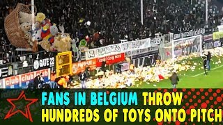 Fans in Belgium Throw Hundreds of Cuddly Toys Onto Pitch for Disabled Children