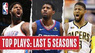 Paul George's TOP PLAYS | Last 5 Seasons