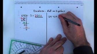 3. Die schriftliche Division - Die Null im Ergebnis