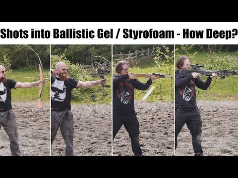 Medieval vs. Modern: Testing Bows / Crossbows - Field Tips, Obsidian Point, Broadheads