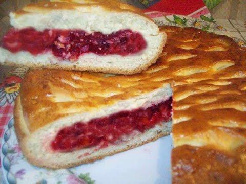 Пирог с вишнями.