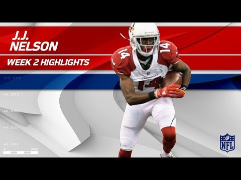 J.J. Nelson's Huge Day in Indy! | Cardinals vs. Colts | NFL Wk 2 Player Highlights