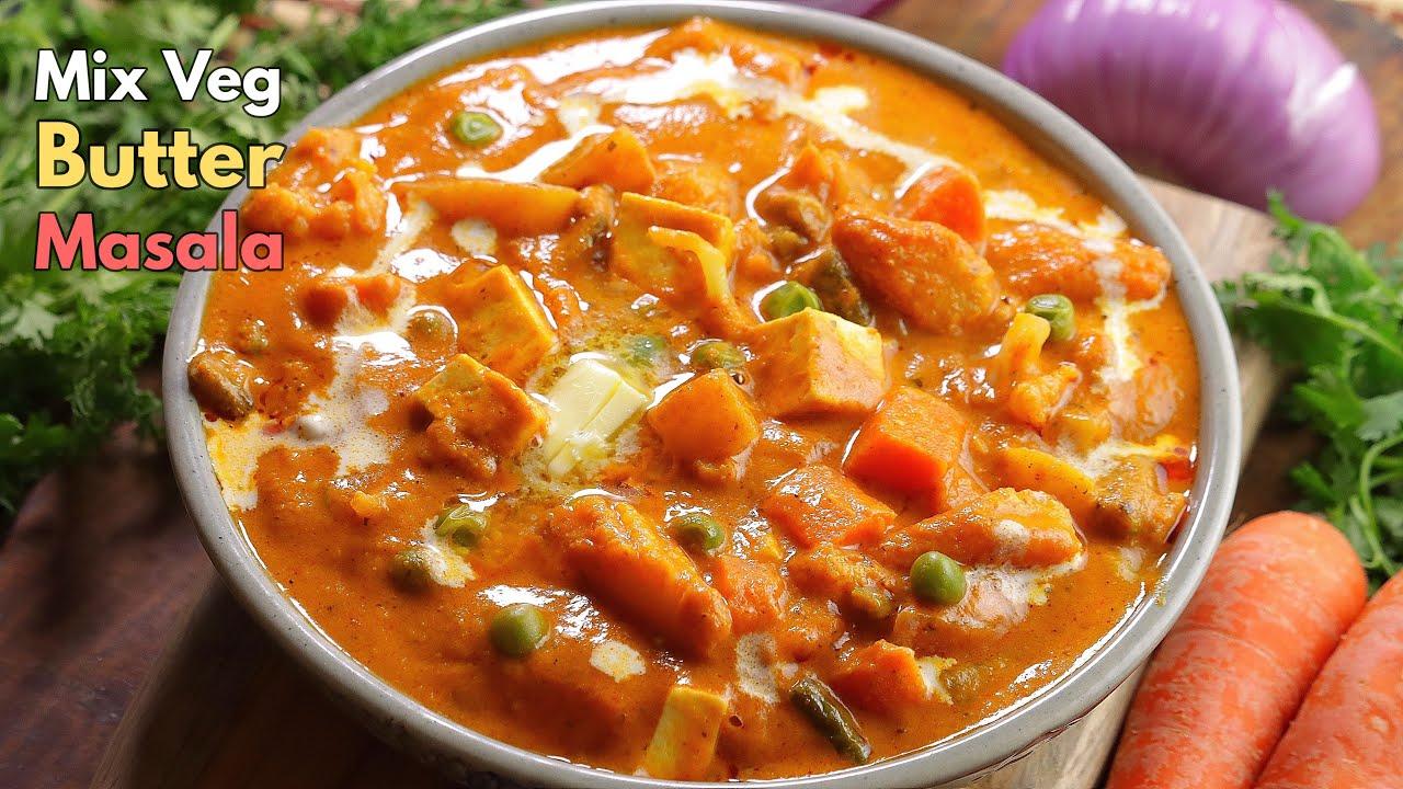 మిక్స్ వెజ్ బటర్ మసాలా | Restaurant style Mix veg  Butter masala curry in Telugu || @Vismai Food