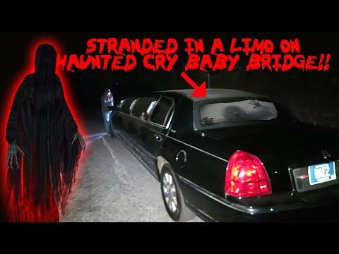 MY LIMO BROKE DOWN ON THE HAUNTED CRY BABY BRIDGE * CRY BABY BRIDGE CHALLENGE*