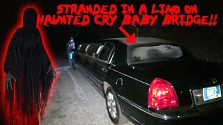MY LIMO BROKE DOWN ON THE HAUNTED CRY BABY BRIDGE * CRY BABY BRIDGE CHALLENGE* | MOE SARGI