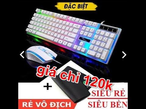 Bộ bàn phím kèm chuột máy tính Con Báo LED 7 Mầu giá chỉ 120k