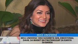 Miss Universe 1994 Sushmita Sen, emosyonal dahil sa mainit na pagtanggap sa kanya sa bansa