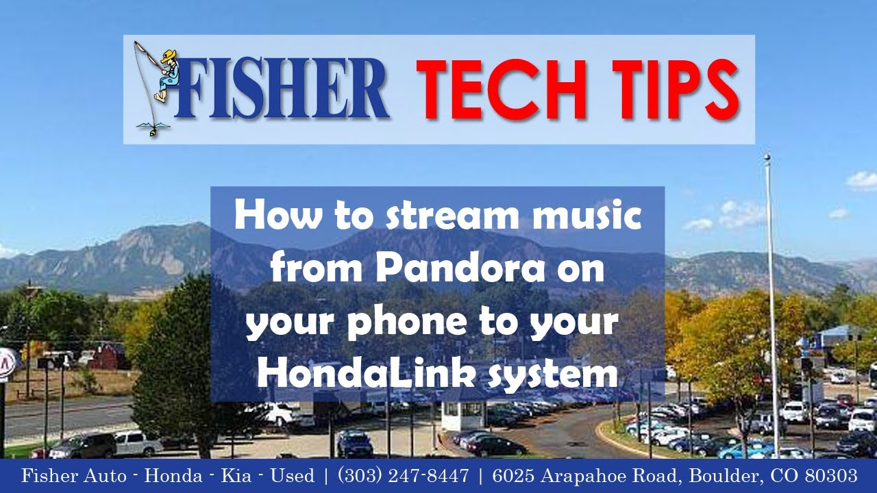 Stream Pandora Radio via Bluetooth in your 2013 Honda