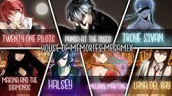 ◤Nightcore◢ ↬ MEGAMIX House of Memories [Switching Vocals | Megamix]