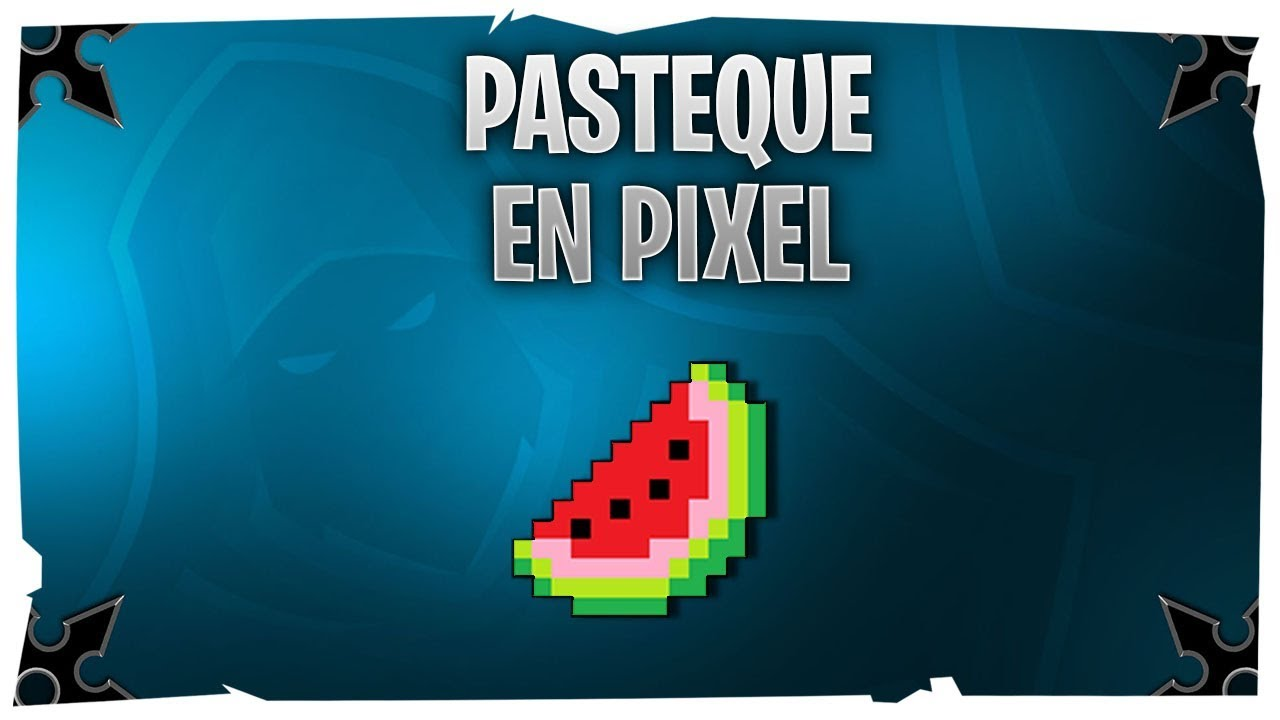 Food La Pastèque Pixel Art By Gagamarou