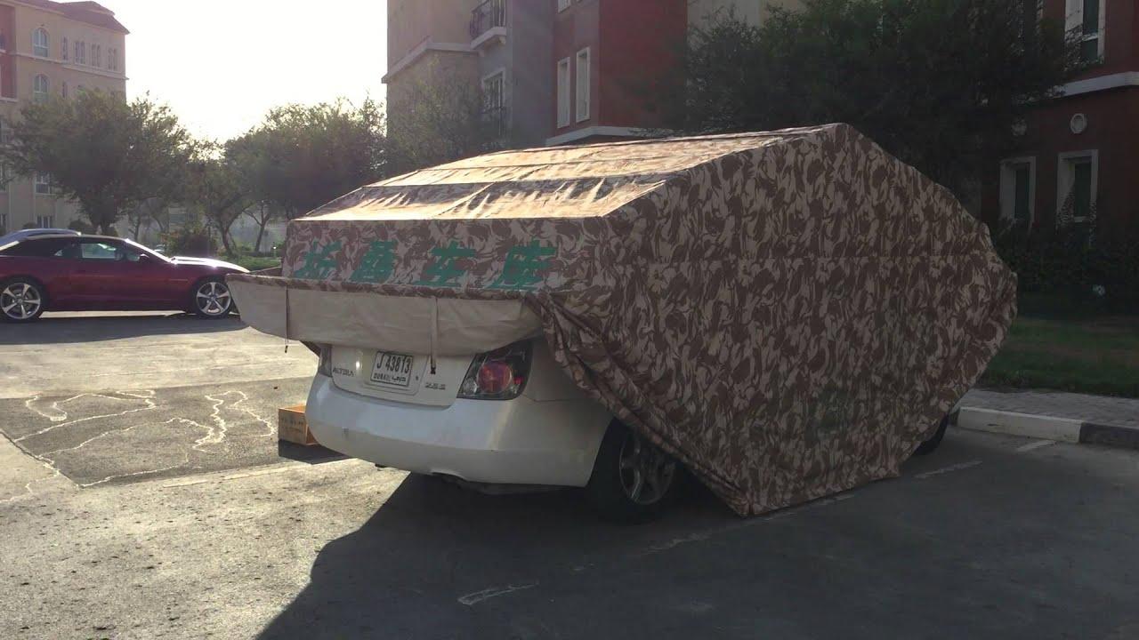 Car cover in dubai youtube for Box modulare per auto