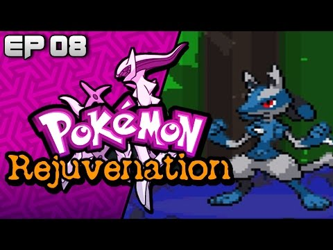 Pokemon Rejuvenation ( Fan Game ) Part 8 NEW SHINY LUCARIO -  Gameplay Walkthrough