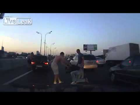 Russian Road Rage - Just Another Day in Russia