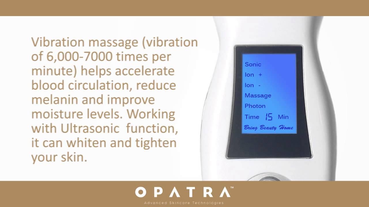 Opatra Dermisonic Ultrasonic Led Beauty Device Youtube