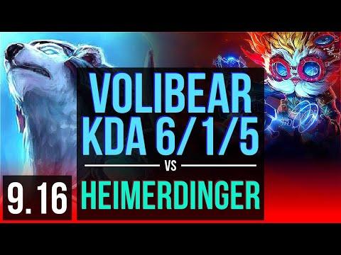 volibear-vs-heimerdinger-(top)-|-4-early-solo-kills,-kda-6/1/5,-67%-winrate-|-korea-master-|-v9.16