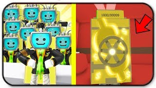 Creating An Army Of Donator Customers And Gold Backpack - Roblox Cash Grab Simulator