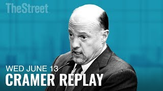 Jim Cramer on AT&T, Time Warner, Caterpillar and Cisco