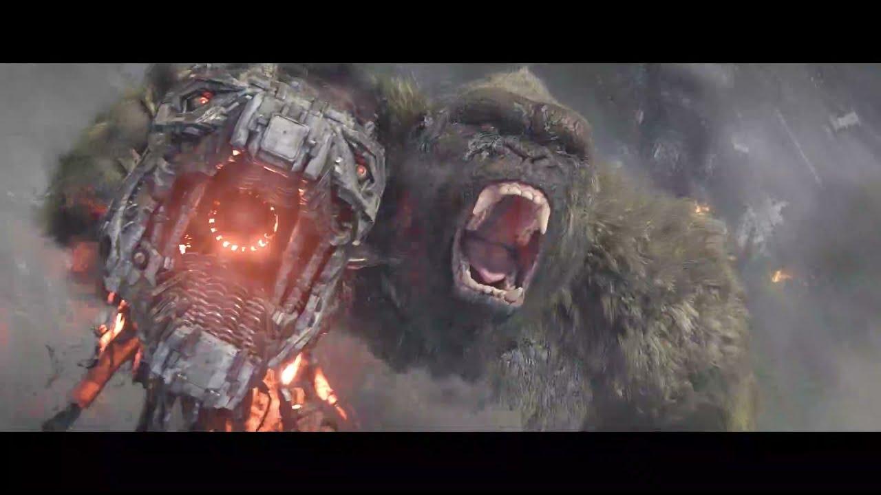 Godzilla vs Kong (2021) - Kong & Godzilla vs MechaGodzilla (No music, no humans)