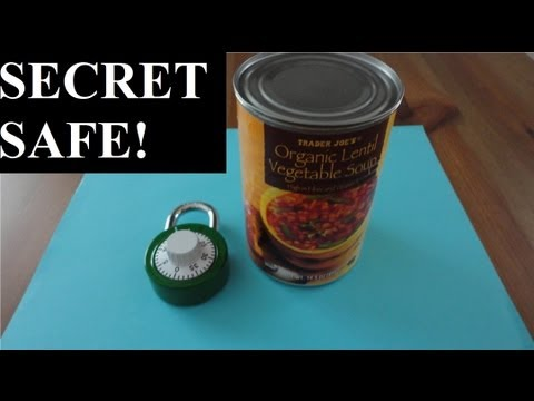 how to make a secret weed container