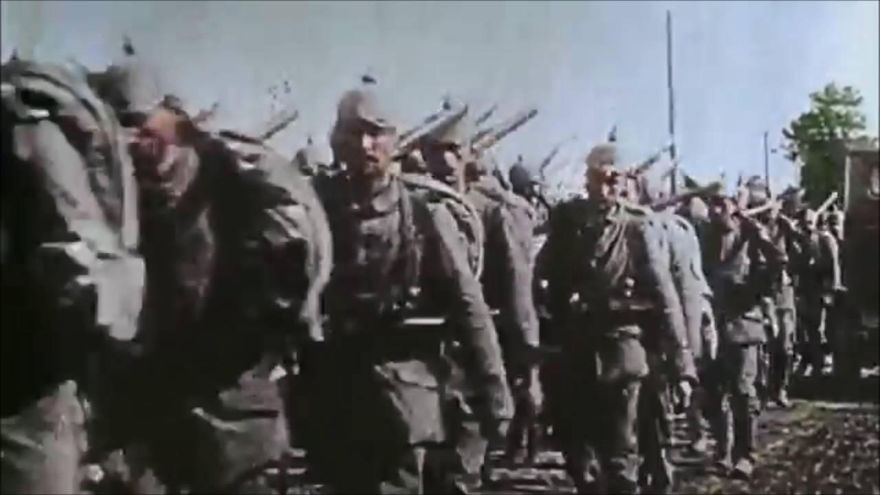 Drei Lilien | German army WW1 footage in Color