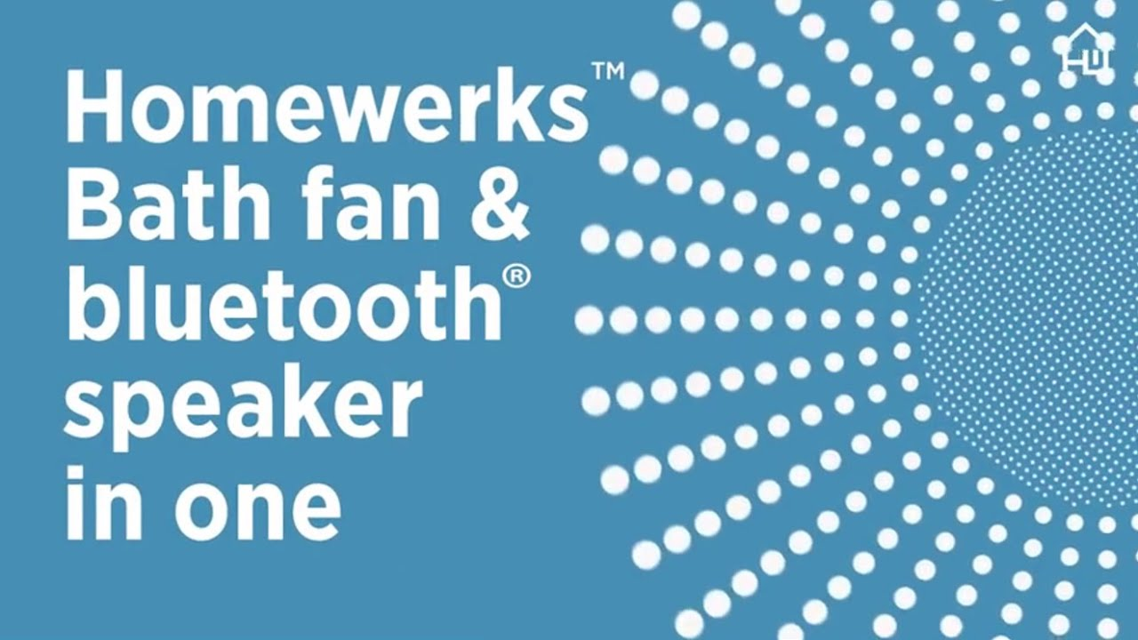 homewerks bath fan & bluetooth speaker in one - youtube