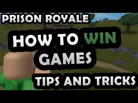 PRISON ROYALE - HOW TO WIN GAMES! ( TIPS AND TRICKS )