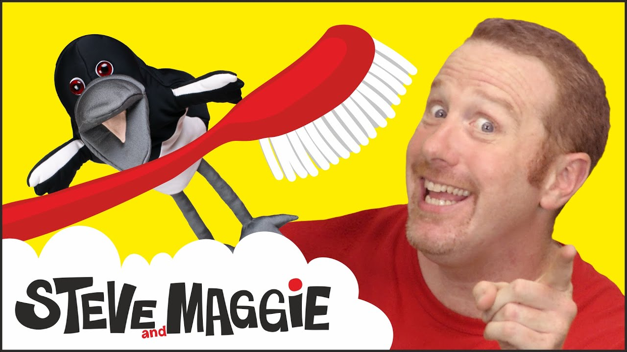 Brush Your Teeth Story and Song with Steve and Maggie | Magic Toothbrush for Kids | Wow English TV