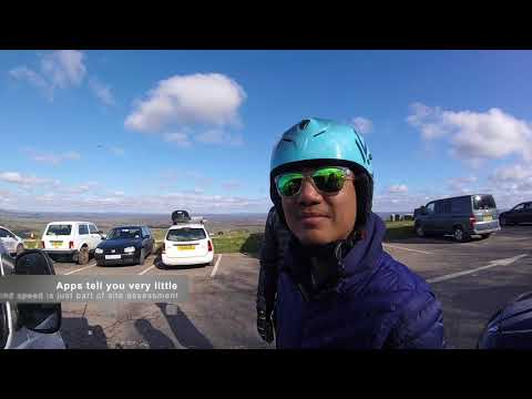 Working week in teaching people to fly paraglider's