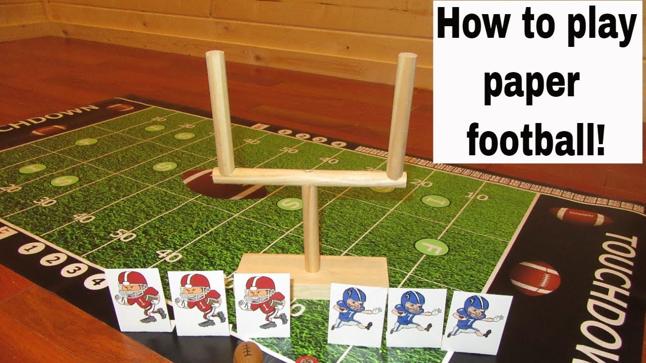 How To Play Paper Football Or Finger Football Youtube
