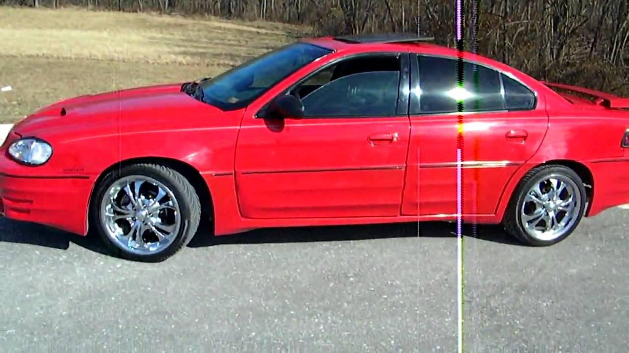2003 pontiac grand am gt w jl audio w3 subwoofers 18inch chrome wheels youtube
