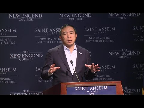 Full video: Andrew Yang speaks at Politics and Eggs event