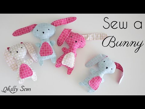 Sew A Bunny Great Gift With A Free Pattern Youtube