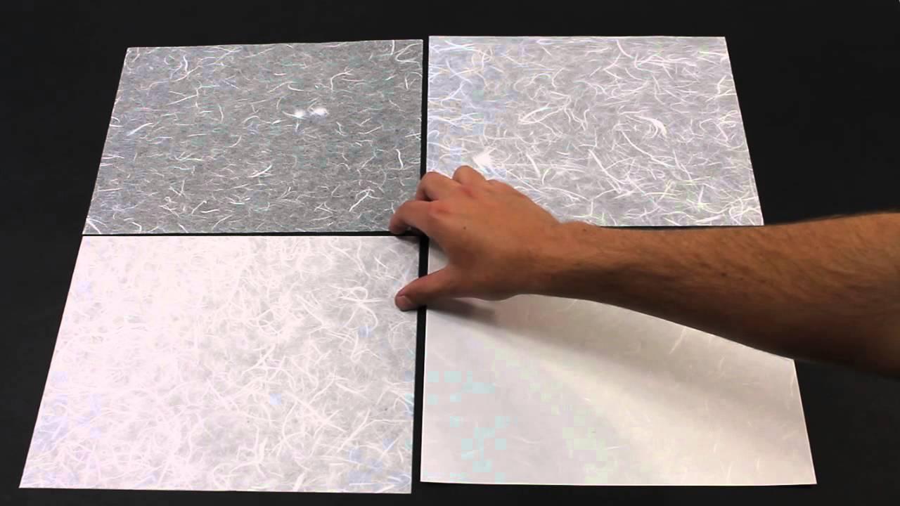 White Unryu (Mulberry) Paper Comparison - YouTube